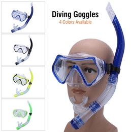 Diving Suits NZ - Adult Swimming Mask Diving Goggle Scuba Mask Underwater Sports Snorkel Glasses with Half Dry Breathing Tube Diving Suit