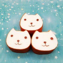 Living fairy online shopping - Kawaii Thicken Squishies Bread Toast Smile Face Pattern Jumbo Squishy Cat Shape Squeeze Bag Phone Charms Brown hb BB