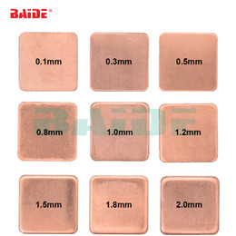 laptop pad copper Canada - Copper Sheet Shim Piece Heat Sink 15 x 15mm 0.1 0.3 0.4 0.5 0.6 0.8 1.0 1.2 1.5 1.8 2.0mm Thermal Pad For Laptop GPU CPU 1000pcs