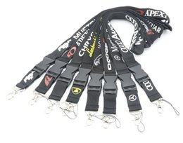 Wholesale Car brand lanyard for mobile phones keychain badge holders or e cigs VIP pass soft material