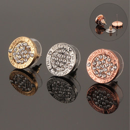 Fashion studs earrings online shopping - 3Colors Rhinestone Alloy Earrings Designer Jewelry Earrings Fashion Stud Earring Jewelry Earrings Luxury Brand Earring Mothers Day Gifts