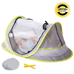 $enCountryForm.capitalKeyWord UK - Portable Baby Pop Up Tent Outdoor Foldable UPF50+ Sun Shelter Baby Travel Bed Camping Beach Anti Mosquito Infant Ultralight Tent