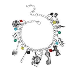 $enCountryForm.capitalKeyWord UK - Sherlock Bracelet Antique Silver Sherlock Holmes 221B Charm Collection Bracelet Bangle Cuffs for Women Fashion Jewelry drop Shipping