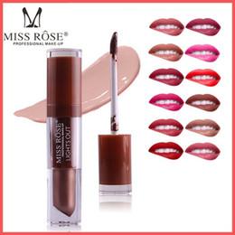 dark purple black lipstick 2018 - Factory Direct DHL Free! Miss Rose Liquid Lipstick Waterproof Long Lasting Lips Makeup Lipstick Matte Easy to Wear Nutri