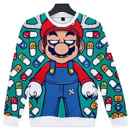 Chinese  New Hot hoodie Women Men Cartoon hoodies Sweatshirt 3D Print Letters Super Mario Hoodies Harajuku fashion style streetwear tops manufacturers