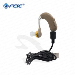 Ear hEaring aids online shopping - FEIE rechargeable Hearing Aids Behind the Ear Sound Amplifier Digital processing Chip China Factory Cheap Price for deafness people C