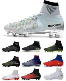 Discount cr7 new soccer boots - New HIgh Heel Mercurial Superfly V FG Mens Soccer Shoes Ronaldo Football Boots CR7 Mercurial Superfly Men Football Shoes