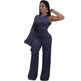 ed3d9c0fe24 NEW Jumpsuits for Women 2017 Elegant Shoulder Jumpsuit Elegant Brief Jumpsuit  Romper Work Office Business Long Pants Playsuit