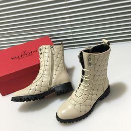 e288314a2e97 Italian Boots Brands Canada - 2018 Italian luxury brand V   lentino new ladies  leather boots