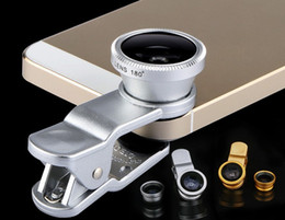best camera prices NZ - 3 in 1 Universal Clip Fish Eye Wide Angle Macro Phone Fisheye glass camera Lens For iPhone Samsung Cheap Price+ Best quality LLFA