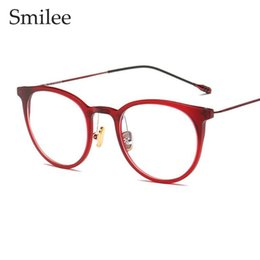 c22971632d TR90 fashion red cat eye Glasses frame clear lens spectacle frame Women  brand Eyewear optical frames myopia nerd black eyeglasse