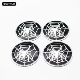Chinese  4Pcs Set 58mm Spider Car Steering Tire Wheel Center Sticker Hub Cap Hubcap Sticker Emblem Badge Decal Car Styling manufacturers