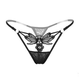 7d87e269d17 Sexy Panties Hot Sale Butterfly Thong Women G-String Underwear Hollow Out  Sequined Briefs Low Waist Sexy T-back Tanga