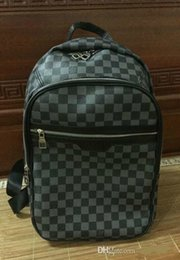 school europe 2019 - Europe Designer Brand N41612 Damier Cobal Mens Backpacks High Quality School bag 40CM cheap school europe