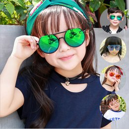 d35e42a0b67 Korean cat eye sunglasses online shopping - Fashion cute kids sunglasses UV  protection box baby glasses