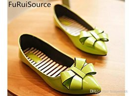 Mint Green Flat Shoes Canada - New age season tide pointed flat shallow mouth work for women's shoes