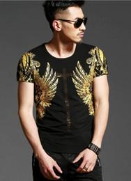 $enCountryForm.capitalKeyWord NZ - Summer top t - style vintage angel wings bronze printed men cotton short - sleeve printed t-shirts