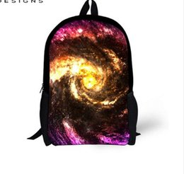 space backpacks 2019 - hot sale Schoolbag for Teenager Girls 3D Galaxy Space Star Prints Children School Bags Boys Shoulder Book Bag 8-14years