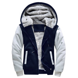 6b3f7b9d4bfd5 ... per uomo di taglia EU Super Warm Felpe per uomo Felpa con cappuccio di  lana invernale per uomo Casual Cerniera con cappuccio Cardigan Cappotto Top  Plus