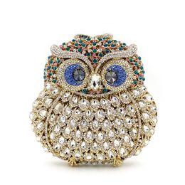 $enCountryForm.capitalKeyWord Australia - BL006 Animal braccialini Owl women bags pochee handmade prom Clutch evening bags Luxury party crystal clutch