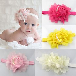 Discount angel flower headbands - New Girl Hair Band Baby 1PCS Lovely Rhinestone Unusual Angel Girls Baby Pearl Flowers Hairband Headbands Hair Accessorie