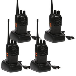 Chinese  4pcs Baofeng BF-888S Walkie Talkie 5W Handheld bf 888s UHF 5W 400-470MHz 16CH Two Way Portable Scan Monitor Ham CB Radio manufacturers