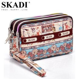 Russia Coin Australia - SKADI Women Purse Short Design Brand Wallet Coin Clutch Bags Phone Bag Zippers Russia Lady Gift Cute Dots Floral Flower Sac