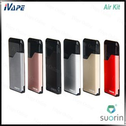 Wholesale 100 Orginal Suorin Air Starter Kit mAh W with Air Pod Cartridge ml Air Buit in Battery Mod Portable All in one Device