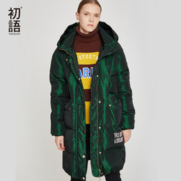 766ff395df7 Toyouth Duck Down Women Winter Coat Hooded Abrigo Mujer Outwear Long Coat  Puffer Black Warm Jacket Thickening Coats Plus Size