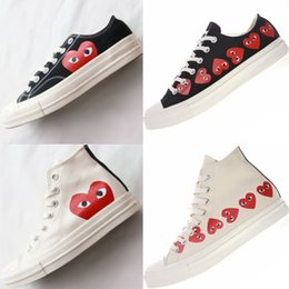 38860e8104be Con la scatola anni  70 Fashion Canvas Skate Shoes Originals Classic anni   70 Canvas Shoes Jointly Name CDG Gioca a Big Eyes 18ss Casual Shoes