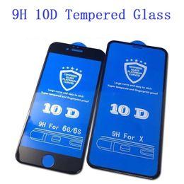 $enCountryForm.capitalKeyWord NZ - 9H Tempered Film for IPhone Xs Xr Max 10D Toughened Film Apple 7 8Plus Big Arc Drop Glue Mobile Phone Screen 6 6s Screen Protectors
