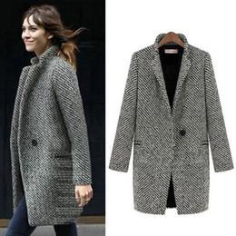 Discount black formal jackets women - ALABIFU Autumn Winter Suit Blazer Women 2018 Formal Woolen Jackets Work Office Lady Long Sleeve Blazer Outerwear Plus Si