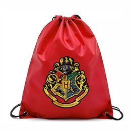 Harry potter Drawstring Pocket Bags Fashion School Canvas Bag Backpacks  Harry Potter Shopping bags Pouch 4 design KKA5752 c573b3373ff85