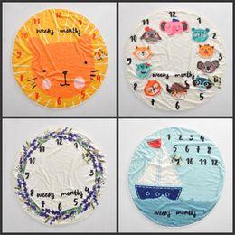 Girls crib online shopping - Boys Girls Souvenir Blankets Children Baby Memorialize Blanket Circle Sailing Animals Carpet Parents Gifts Family Ornament zc3 gg