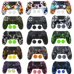Ps4 silicone camouflage online shopping - PS4 PS4 SLIM PRO Camouflage Anti Slip Silicone Case Cover Skin with Thumb Grip Caps for Playstation Dualshock Controller