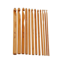 $enCountryForm.capitalKeyWord Australia - IY Apparel Fabric Sewing Tools Accessory 12pcs set Durable Knitting Needle Set Bamboo Handle Crochet Hook Knit Weave Yarn Craft Sewing A...