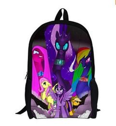 Discount cute ponies cartoon - Children School Bag Pony Schoolbag Cute Girls Bag,Cartoon Student Bookbag Teenagers Travel Backpack Casual Boys Bagpack
