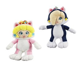 """China New arrival 100% Cotton 8"""" 20cm Super Mario Bros Rosalina Peach Princess Cat Plush Doll Stuffed Animals Toy For Child Best Gifts cheap princess video games suppliers"""