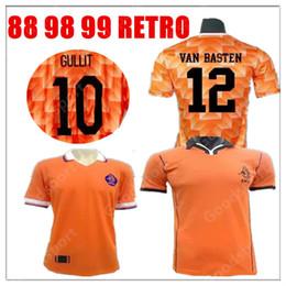 1988 89 Soccer Jersey Retro Netherlands Marco Van Basten Gullit 97 98  Voetbal Shirt Seedorf Bergkamp Holland 1988 199 TOPS sr fc1f40779