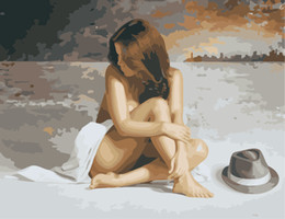 $enCountryForm.capitalKeyWord NZ - Nude Beauty Portray 16x20 inches DIY Paint On Canvas drawing By Numbers Kits Art Acrylic Oil Painting Frame For Adult Teen