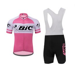 lycra cycling jersey sets NZ - 2018 BIC Cycling Jersey (bib) shorts set Breathable sport wear Men cycling clothes Bicycle Clothing Lycra summer MTB Bike maillot 91913Y