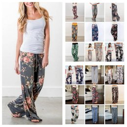73dcdccb515c1 28 color Floral Yoga Fitness Wide Leg Pant Women Casual sports Pants Fashion  Harem Pants Palazzo Capris Lady Trousers Loose Long pants 1pcs