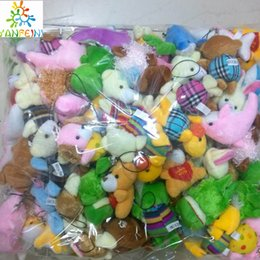 $enCountryForm.capitalKeyWord NZ - Bulk 100pcs lot Collection Of Plush Animals Various styles package Dolls For Phone Key Bag Pendants Soft kids toys