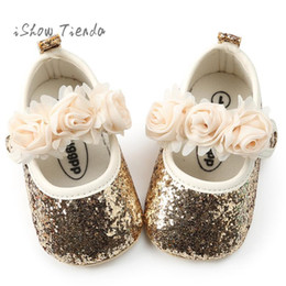 footwear for toddler girls 2019 - footwear for newborn girl Princess Flower Fashion Toddler shoes baby first walker shoes Kids for babies infant discount