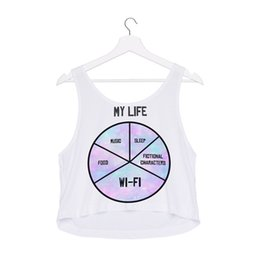 Wholesale vest size chart for sale - Group buy Women Vest MY LIFE Chart D Graphic Print Girl Free Size Stretchy Tank Top Lady Sleeveless Soft Tanks Casual Crop Top Tops GL40490