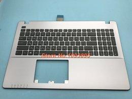 Discount topcase keyboard - Russian keyboard For Asus X550J X550JD X550JF X550JK X550JX X550L X550LA X550LAV Russian keyboard Silver topcase Plamres