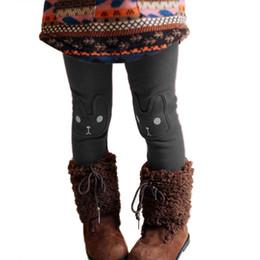 Girls Rabbit Leggings Australia - 2017 Winter Cute Rabbit Girls Pants Bottoms Kids Baby Toddler Fleece Leggings Child Trousers