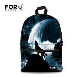 482d30212f1f wolf backpacks 2019 - Cool Wolf Dog Printed Canvas Backpacks Teenage Girls  School Bags Women Fashion