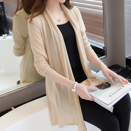 6c23ae17de Knitted Ladies Cardigan 2018 Summer Thin Air Conditioning Sweater Shawl