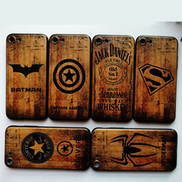Wood Iphone Case Dhl Australia - For iphone X 7 8 plus 6 6s plus Cellphone Cases Imitation Wood Grain Soft TPU Back Cover The Avenger Mobile Phone Shell Case Free DHL A776